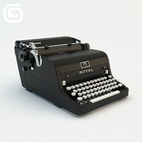 royal typewriter obj
