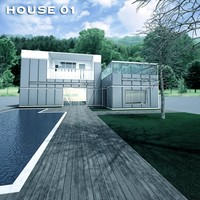 house exterior scene 3ds