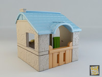 3d toy house - country