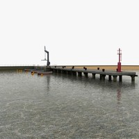 3d 3ds harbor pier