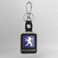 3ds max realistic peugeot car keychain