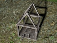 chicken cage 3d obj