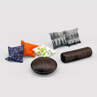 3d model pillow set sofas