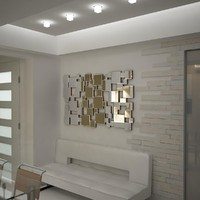 3d mirror decor carre