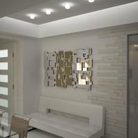 3d mirror decor carre