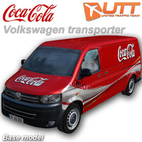 3d volkswagen transporter coca-cola model