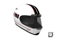3d model of white helmet h02