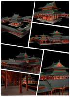 chinese classical temple 3d model
