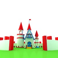 small castle house 3d model
