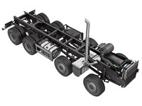 3ds max truck chassis 8x4
