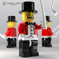 lego ringmaster figure 3d max