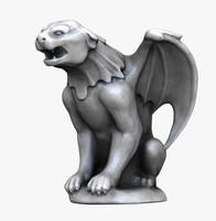 3d panther gargoyle