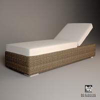 golf sun bed 3d max