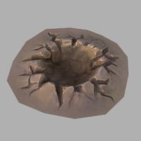 3d cartoon crater model