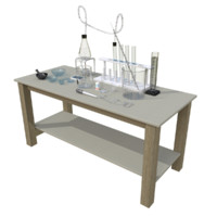 chemistry lab 3d dxf
