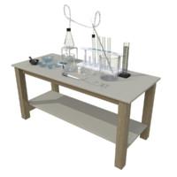 chemistry lab 3d dxf
