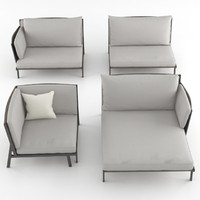 kettal vieques sofa set 3d model
