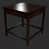wooden end table 3d max