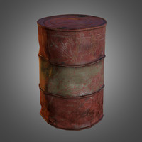 3d old oil barrel