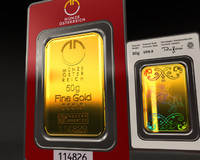 animation gold ingot 3d model