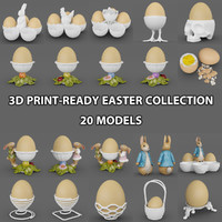 3d model of peeled egg