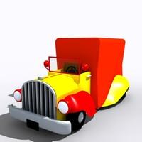 old car toon 3d model