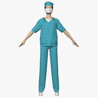 3d model clothes doctor