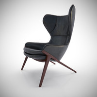 3d model of cassina p22 chair furniture