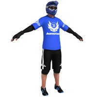 3d mountain bike bicyclist 2