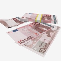 3d model 10 euro banknote
