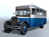 ZIS-8 retro city buss