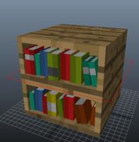 maya bookshelf