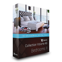 CGAxis Models Volume 49 Bedrooms II C4D