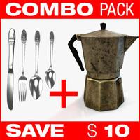 combo fork coffee 3d model