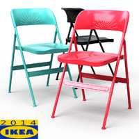 frode folding dining chair 3d model