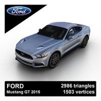 3d model 2015 mustang gt