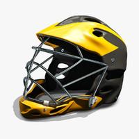 lacrosse helmet 3d model