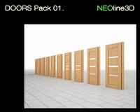 doors pack 01 3d model