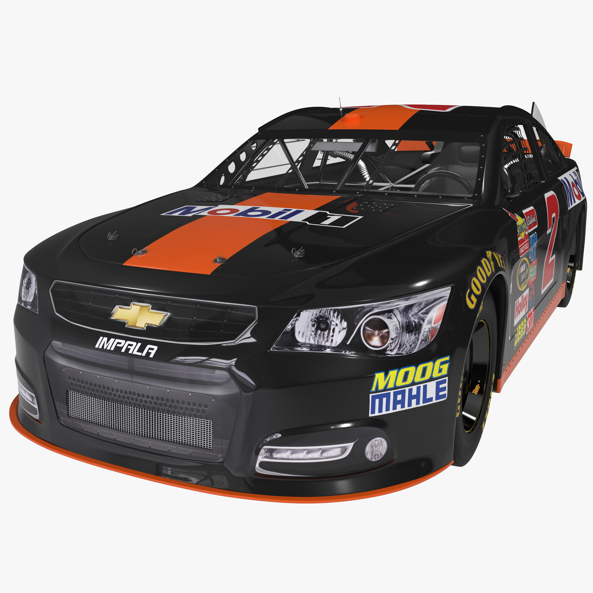 3d model nascar racing car chevrolet impala. Black Bedroom Furniture Sets. Home Design Ideas