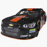 3d model nascar racing car chevrolet impala