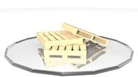 3d model wood wooden pallet