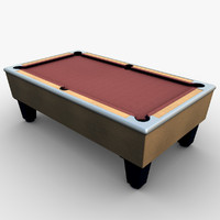 pool table 3d model