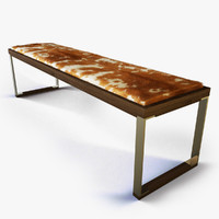 Cowhide Bench Stool