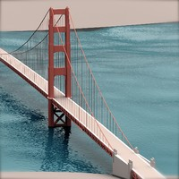 3ds max golden gate bridge