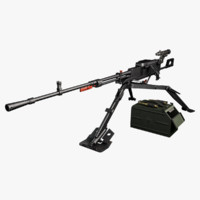 3d nsv machine gun model