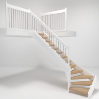 3d model staircase architech