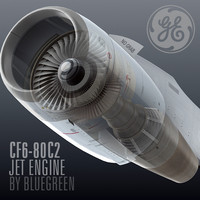 lightwave cf6-80c2 jet engine