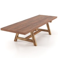 old dining table 3d model