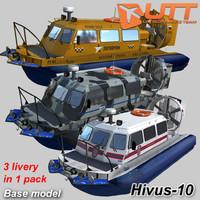 3d model hivus-10 amphibious hovercraft livery