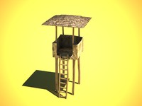 maya wooden tower